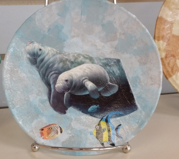 Decorative Manatee Plate